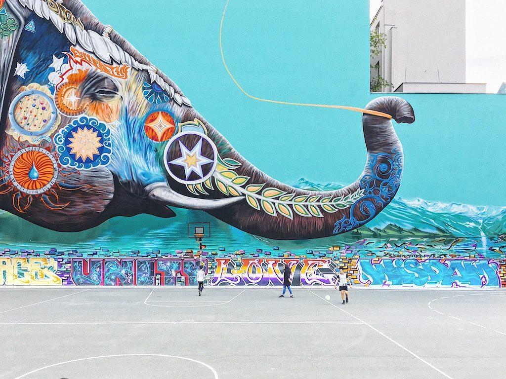 A colourful elephant